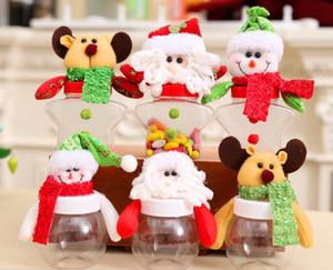 Petite boîte de bonbons en plastique bonbon Noël pot forme d'étoile avec poupée père noël bonhomme de neige cerf décoration de Noël