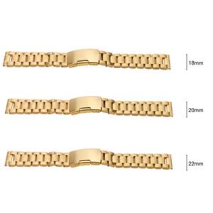 Cinta de relógio de aço inoxidável Durável Planície End Watchband com Pinos de Ligação e Ferramenta de Barra de Mola 18 20 22mm ordem $ 18no faixa