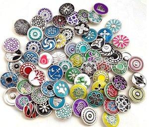 İyi snap düğmesi 12mm küçük düğme satış 20 adetgrup mix stilleri renkler değiştirilebilir zencefil snap düğmesi charm yapış takı freeship