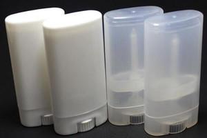 15g DIY Empty Oval Lip Balm Tubes Desodorante Contenedores Clear White Lipstick Moda Cool Lip Tubes
