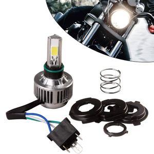오토바이 헤드 라이트 H4 COB LED 전구 조명 하이 파워 HID 화이트 하이 / 로우 빔 카페 레이서 오토바이 조명 액세서리