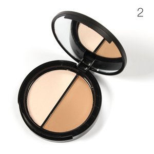 Wholesale-30pcs Professional Makeup Two-Color Bronzer & Highlighter Powder Trimming Powder Make Up Cosmetic Face Concealer Sugar