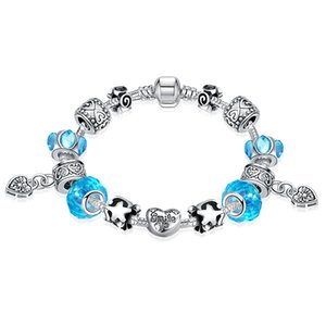 Wholesale European Style Retro Charm Bracelet 925 Silver Plated Beaded Bracelets For Women Fashion Jewelry PDRH030