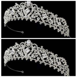 Diamante scintillante di alta qualità Big Crown Strass Diademi nuziali In magazzino Accessori da sposa Vendita calda Capelli da sposa 2016 Corona di capelli economici