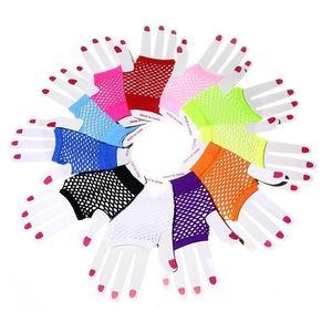 جديد 2015 fishnet الأزياء فاسق نصف اصبع قفازات بالجملة تتسابق ملهى ليلي fishnet قفازات شحن مجاني