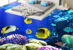 pvc vinyl flooring HD 대양 열대 물고기 산호 3D 층 그림 다운로드 HD 대양 열 대 물고기 산호 3D 층 그림 다운로드