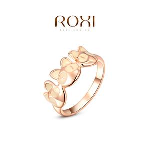 015 ROXI 2014 Frete Grátis Rose Banhado A Ouro Romântico Bonito Gato Anel Declaração de Moda Jóias Para As Mulheres Festa de Casamento Melhor Presente