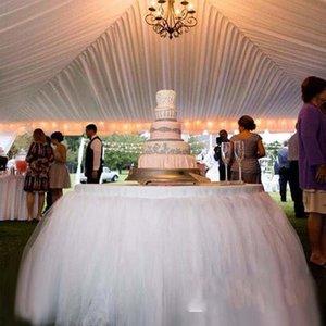 순수한 흰색 테이블 Tulu 투투 스커트 결혼식 이벤트 파티에 완벽한 베이비 샤워 신부 웨딩 휴가 용품 파티 테이블 스커트