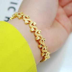 2017 mode femmes bracelet, bracelets plaqués or 24k géométriques bracelets géométriques, bijoux en forme de coeur de dame