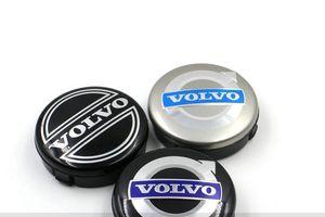 3 ألوان 4 قطع 64 ملليمتر فولفو عجلة مركز قبعات محور غطاء سيارة شعار شارة أسود / رمادي / الأزرق c30 c70 s40 v50 s60 v60 v70 s80 xc90