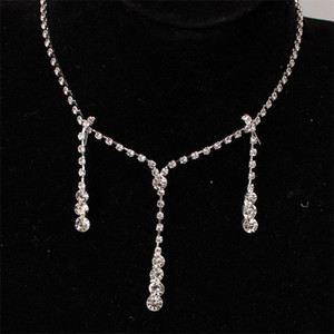 Shining Elegant Wedding Bridal Jewelry Prom Silver Plated Rhinestone Crystal Birdal Jewelry New Bling Necklace And Earring Accessories