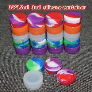 Il contenitore di cera antiaderente in silicone da 3 ml più venduto / vasetto in silicone alimentare / silicone containa per olio o cosmetici