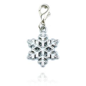 Encantos Floco De Neve Encantos Do Floco De Neve colares moda jóias Pingente Ele pode ser pendurado na cadeia e bolsas Medalhão Charme DZ0255