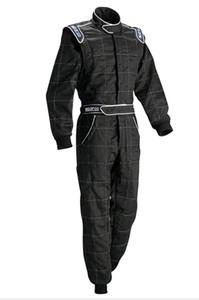 Combinaison de moto de course de voiture veste pantalon ensemble ajustement hommes et femmes noir bleu rouge polyester non ignifuge