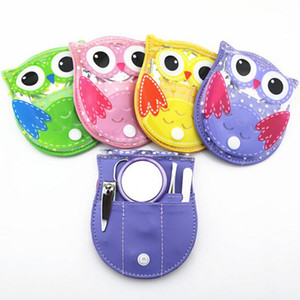 5pcs / Set Convinient Owl Manicure Set Nail Art Tools Tijeras de uñas File Clipper Eyebrow Tweezer Trimmer Pedicure Nail Kit P1