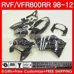 negro brillante VFR800 para el interceptor HONDA VFR800RR 98 99 00 01 02 03 04 12 90NO57 VFR 800 RR 1998 1999 2000 2001 2002 2003 2004 2012