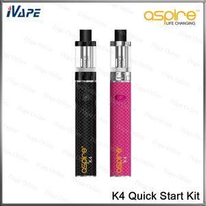100% оригинальный Aspire K4 Quick Start Kit Cleito Tank 3.5 мл 0.27 Ом с аккумулятором K4 2000 мАч