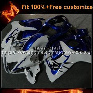 23 renkler + 8 Gifts Enjeksiyon kalıp Suzuki GSX-R1300 2008-2010 için MAVI BEYAZ motosiklet kukuletası GSXR1300 08 09 10 ABS Plastik Kaporta