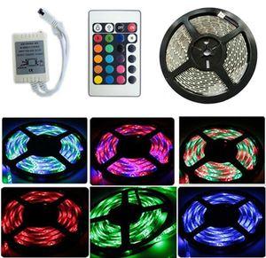 5 M 3528 RGB Luz de Tira CONDUZIDA À Prova D 'Água IP65 Decoração Exterior Lighitng 60LEDs / M 300 LEDs DC12V + 24 Chave IR Controlador Remoto