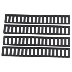 Funpowerland Hohe Qualität Leiter 18 Slots Low Profile Schiene Abdeckungen 4 stücke pack Schwarz Für Handschutz AR15 M4 (DS9525A) Kostenloser Versand