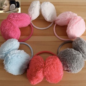 Toptan-Moda Zarif Kadınlar Bayanlar Renkli Peluş Kabarık Sıcak Earmuffs Earlap Kulak Kış mix renk ücretsiz kargo