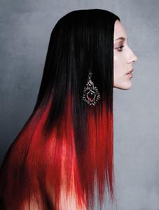 50 г 100 г 150 г 200 г натуральный кератин капсулы prebonded U/ногтей кончик наращивание волос два тона ломбер бразильский Реми волос T1B/Красный
