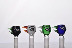 Chegada nova Colorido Bola Olho Bacia De Vidro Masculino 14mm 18mm cachimbo de água tigela de cachimbo de vidro Bongo De Vidro Cachimbo