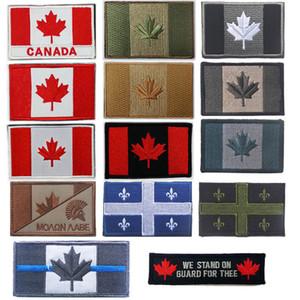 Adesivos de bandeira ao ar livre adesivos bordados bordo braçadeira adesivos maple folhas patch tático canada país bandeira patch no14-012
