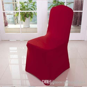 Wholesale Many Color Chair Covers Spandex For Wedding Banquet Chair Covers Hotel Decoration Decor Free Shipping