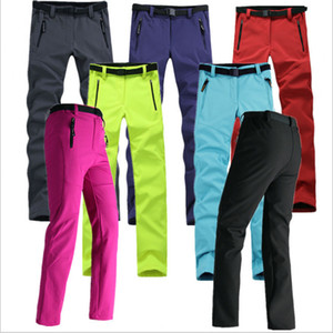 Women Thick Warm Fleece Softshell Pants Fishing Camping Hiking Skiing Trousers Waterproof Windproof 2016 New