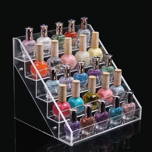 2015 kosmetische Nagellack Display Stand Rack Acryl Make-up Veranstalter Parfüm Lippenstift Kristall Aufbewahrungsbox