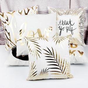 YENİ Tasarım Pullu Bronzlaştırıcı Yastık Yastıklar Kılıf Kapak Yastık Sanat Çizgili Dudaklar Kirpik Siyah Beyaz Altın Yatak Odası Ev Koltuk Dekoratif