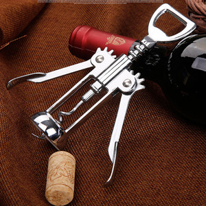 Paslanmaz Çelik Şarap Şişe Açacağı Kolu Basınç Tirbuşon Kırmızı Şarap Açacağı Mutfak Aksesuar Bar Aracı Kanat Tirbuşon Açacağı WX9-117
