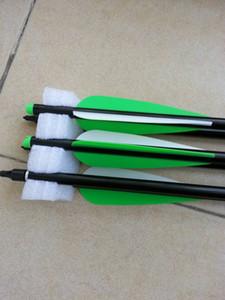 12 pcs por lote de alta qualidade 20 polegada de alumínio besta flechas com 4 polegada flecha cata frete grátis