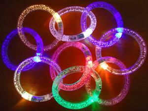 Toptan - yanar oyuncaklar Led yanıp sönen bilezik Noel partisi dekorasyon için ücretsiz gemi