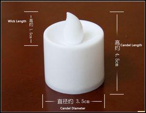 3.5 * 4.5 cm LED bougies chauffe-plat à thé de thé sans flamme Lumière à piles de mariage célébration d'anniversaire de noël décoration J082002 #