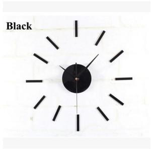 Siyah Kuvars Duvar Saati Hareketi Mekanizması 3 Beyaz Eller DIY Onarım Parçaları Kiti Ücretsiz Kargo, Dandys