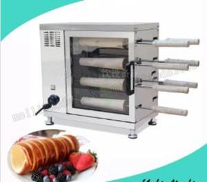 Chimney 220v Kek Baca Fırın kızartma Otomatik Rulo Satış Elektrik Makine Makine Ekmek İçin Kek Rulo MYY Evdfu