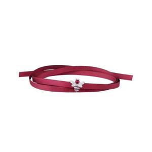 Новый красный шелковая лента колье ожерелье Красный Корунд пчелы бар колье Ожерелье для женщин воротники mujer collier ras du cou Choker браслет