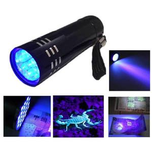 2016 heißer verkauf tragbare mini aluminium uv taschenlampe violettes licht 9 led uv taschenlampe lampe taschenlampe