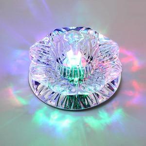 DHL libero Corridoio Specchio Lampada da soffitto di 3W 5W 7WAisle Veranda illuminazione Giù cristallo Mordern montaggio superficiale luci di soffitto del LED per Living Room
