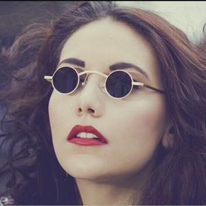 Atacado-Novo Steampunk Óculos De Sol Das Mulheres Dos Homens de Metal Redondo Óculos De Sol Unisex Designer Retro Pequeno Óculos De Sol oculos de sol Z34
