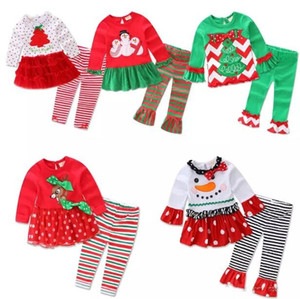 New Brand 2PCs Toddler Infant Newborn Christmas Baby Girls Clothes Bodysuit Body Warmers Outfits Santa Set