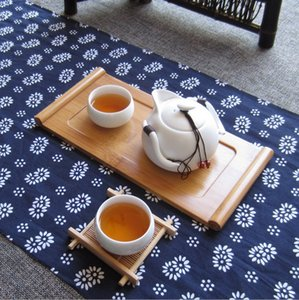 Household tablet mini bamboo tea tray Kung Fu Tea single tray office Bong rectangular tray