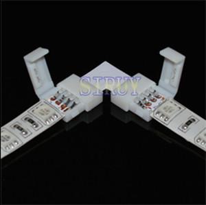 """Gros-5sets / lot LED RGB bande connecteur carte de circuit imprimé 10 mm 4 broches connecteur de type """"L"""" pour 5050/5730 RGB LED Strip"""