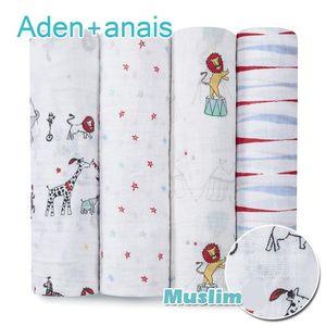 Wrap nave Babies Aden Infantil Bedding Trapunte Newborn forniture gratuite Coperte 100% cobertor Ricevere mussola bambino Anais morbido cotone Xwrwq