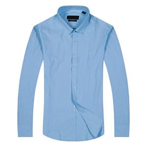 Yeni stil hediye Moda Lüks Erkek Gömlek Uzun Kollu Erkek Gömlekler Adam Pamuk Gömlek Slim Fit Gömlek polo Yüksek kalite Chemise Homme