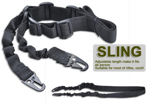 Regolabile Outdoor AR15 M4 Tactical 2 due punti Bungee Sling per fucile Softair