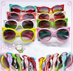 Moda bonito cat eye óculos de sol de proteção crianças óculos de sol crianças óculos de sol para meninas e meninos praia acessórios ao ar livre eyewear