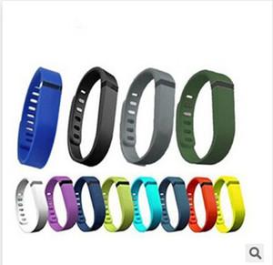 Nuevo Fitbit Flex Band Large Small Black con corchete de goma de reemplazo TPU Wrist Strap Wireless Activity Brazaletes de pulsera con corchetes de metal